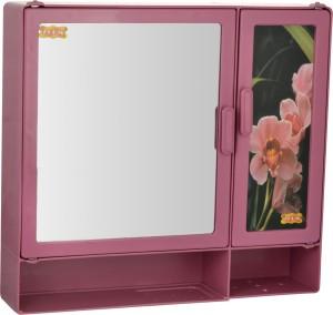Zoom Z00M Butterfly Single Mirror Cabinet Shelf Storage chest (Magenta) Z106BSH-MGT-1... Plastic Wall Shelf