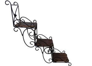 Handicraft Wooden, Iron Wall Shelf