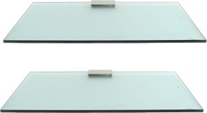 Royal Indian Craft Brass Bracket Sea Green 12 By 5 inch (pack of 2) Glass Wall Shelf