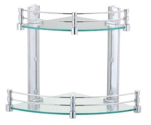 Royal Indian Craft Double Corner Glass Wall Shelf