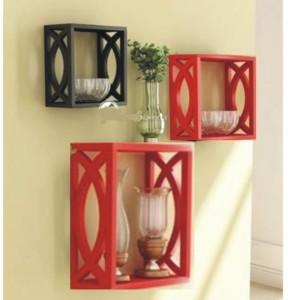 Onlineshoppee handicraft design Wooden Wall Shelf