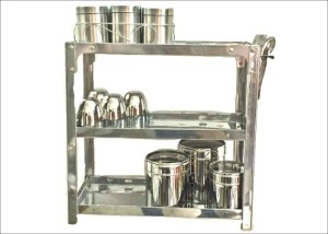 Bharat SR15X15 Stainless Steel Wall Shelf