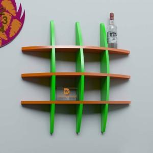 DriftingWood Globe Shape Wooden Wall Shelf