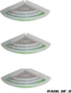 Aquabath PP CORNER SET 3 PC. PACK OF 3 8X8,10X10,12X12 With Unbrekable Plastic Material Plastic Wall Shelf