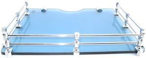 Royal Indian Craft Marvelous Blue Multi Utility Set Top Box/Speaker Glass Wall Shelf