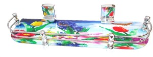 Royal Indian Craft 18 By 5 Inch Beautiful Nature Printed Glass Wall Shelf