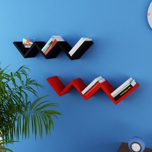 DriftingWood W Shape Wooden Wall Shelf