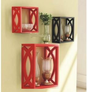 Onlineshoppee Home Decor Premium Wooden Wall Shelf