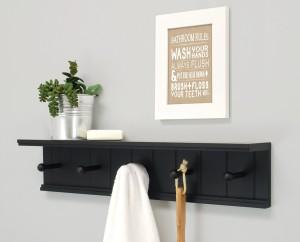Onlineshoppee Hangers MDF Wall Shelf