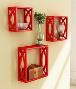 khan handicrafts Wooden Wall Shelf