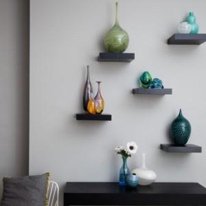 Arsalan Innovative Building Blocks Wooden Wall Shelf
