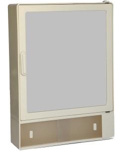 Zoom Zoom Happy Bathroom Mirror Cabinet (Sliding) Plastic Mirror Storage Chest (35.56 x 10.6 x 25.4 cm,Ivory, Blue, White , Z111CSL) (IVORY) Plastic Wall Shelf