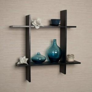 Onlineshoppee Zig Zag Wooden Wall Shelf
