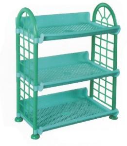 De Ultimate 3 Compartments Foldable Beautiful Multipurpose Rack Plastic Wall Shelf