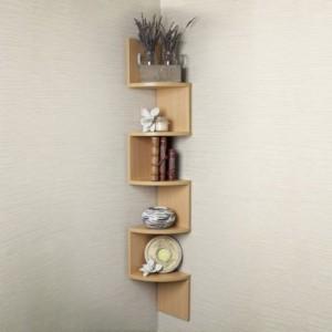 Encore Decor Corner Zigzag - Bavarian Beech MDF Wall Shelf