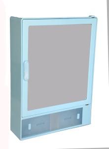 Zoom Zoom Good Morning Bathroom Mirror Cabinet (Sliding) Plastic Mirror Storage Chest (40.64 x 10.6 x 30.48, White, Blue, Ivory, Z101CSL) (BLUE) Plastic Wall Shelf