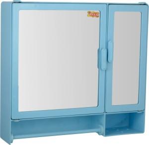 Zoom Z00M Butterfly Double Mirror storage Cabinet with Towel rod & Shelf (Pink) Z1... Plastic Wall Shelf