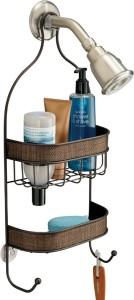 Interdesign Twillo Bathroom Shower Caddy for Shampoo, Conditioner, Soap - Bronze Steel Wall Shelf