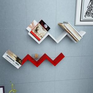 DriftingWood W Shaped Set Of 2 Wooden Wall Shelf