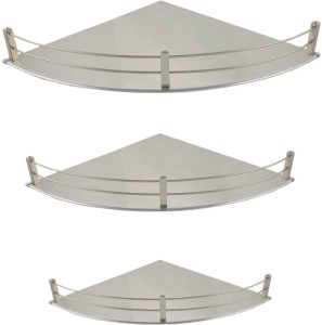 Doyours Doyours Combo 6x6, 9x9, 12x12 Inch SS Corner Wall Shelf Stainless Steel Wall Shelf