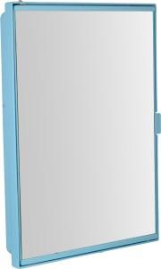 Zoom Z00M Pyramid Full Mirror Corner Storage Cabinet (Blue) Z121PMD-BLU-125717 Plastic Wall Shelf