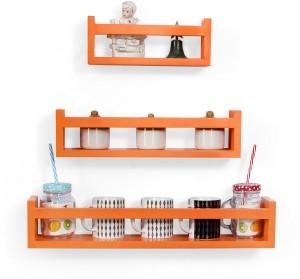 Onlineshoppee Multipurpose Wooden Wall Shelf