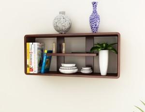 Home Sparkle Rectangular Wooden Wall Shelf