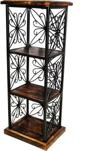 Acme Production Wooden, Iron Wall Shelf