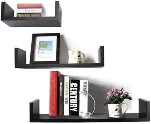 Usha Furniture U Shape Wooden Wall Shelf