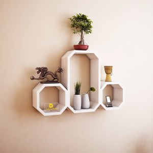 DriftingWood Octagon Shape Wooden Wall Shelf