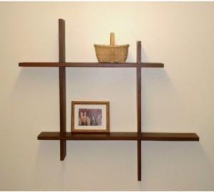 6b094a9b008 Onlineshoppee Beautiful Wooden Fancy Wall Decor Rack Shelves Size  (LxBxH-15x4x15) Inch Wooden