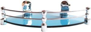 Royal Indian Craft Queen Bracket Royal BLUE Glass 10 Inch Multipurpose Glass Wall Shelf