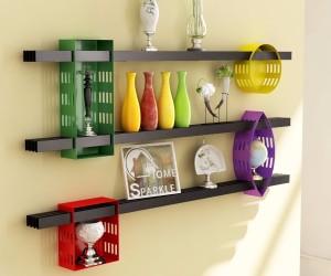 Home Sparkle DIY Cubic Steel Wall Shelf