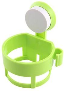 Royaldealshop , Wall Mounted Bathroom Blow-Dryer Organizer Storage with Rotate & Lock Suction Cup Plastic Wall Shelf