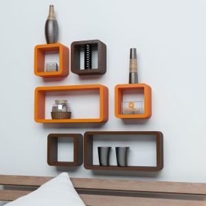 DriftingWood Cube Rectangle Wooden Wall Shelf