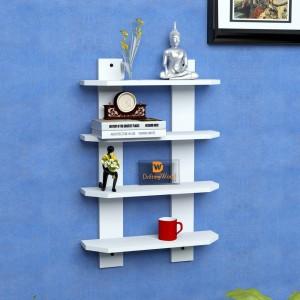 DriftingWood Ladder Shape Wooden Wall Shelf