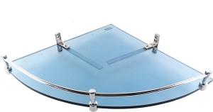 Royal Indian Craft Brass F Bracket Energetic Blue 12 by 12 inch Glass Wall Shelf
