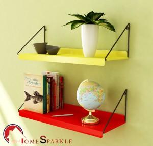 Home Sparkle Steel Wall Shelf