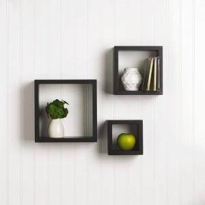 DriftingWood Nesting Square Wooden Wall Shelf
