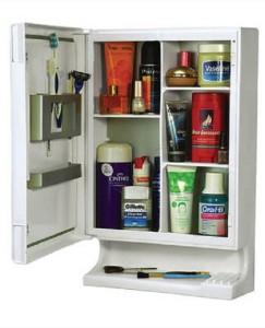 Cipla Plast Bathroom New Look Mirror Cabinet Plastic Wall Shelf