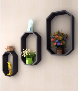 Onlineshoppee Wooden Wall Shelf