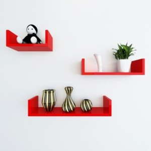 Onlineshoppee AFR991 Wooden Wall Shelf