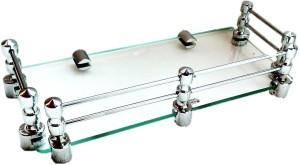 royaL indian craft limited Edition Steel Bracket 12 Inch Glass Wall Shelf
