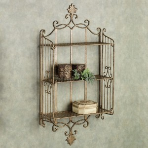 The New Look gold Iron Wall Shelf
