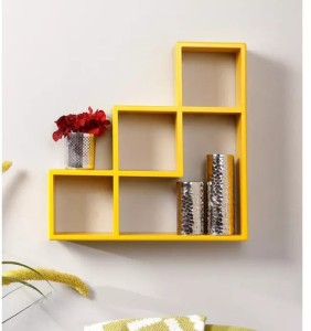 Onlineshoppee Handicraft Designer L Shape MDF Wall Shelf