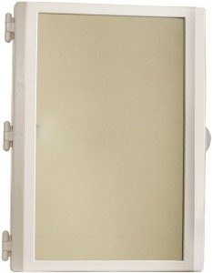 HallMarc Mirror Cabinet Ivory Plastic Wall Shelf