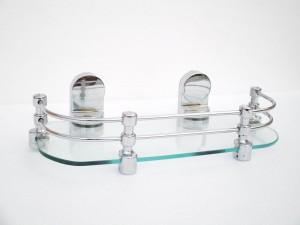 royaL indian craft Queen Bracket Elegant Look 12 Inch Glass Wall Shelf