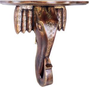 JaipurCrafts Decorative Antique Elephante Wooden Wall Shelf