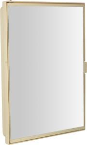 Zoom Z00M Pyramid Full Mirror Corner Storage Cabinet (Ivory) Z121PMD-IV-125717 Plastic Wall Shelf
