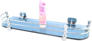 Royal Indian Craft Hard Bracket Blue Color 18 By 5 Inch Glass Wall Shelf